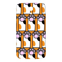 Cute Cat Hand Orange Samsung Galaxy Mega I9200 Hardshell Back Case