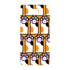 Cute Cat Hand Orange Samsung Galaxy Alpha Hardshell Back Case