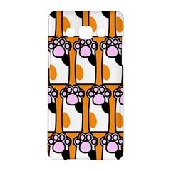 Cute Cat Hand Orange Samsung Galaxy A5 Hardshell Case