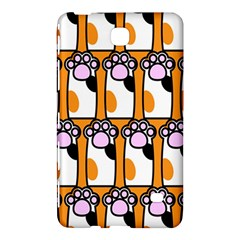Cute Cat Hand Orange Samsung Galaxy Tab 4 (8 ) Hardshell Case