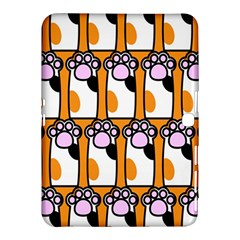 Cute Cat Hand Orange Samsung Galaxy Tab 4 (10 1 ) Hardshell Case