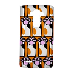 Cute Cat Hand Orange LG G4 Hardshell Case