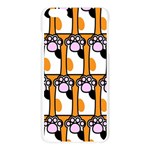 Cute Cat Hand Orange Apple Seamless iPhone 6 Plus/6S Plus Case (Transparent) Front