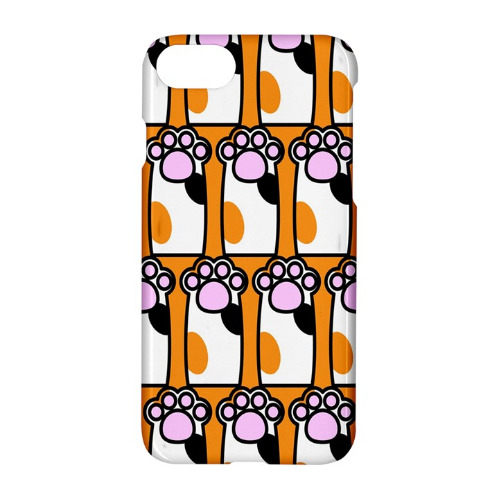 Cute Cat Hand Orange Apple iPhone 7 Hardshell Case