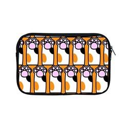 Cute Cat Hand Orange Apple Macbook Pro 13  Zipper Case