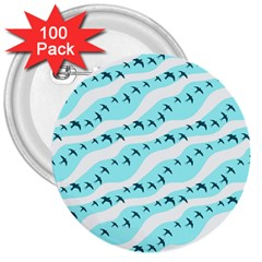 Darkl Ight Fly Blue Bird 3  Buttons (100 pack)