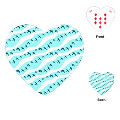 Darkl Ight Fly Blue Bird Playing Cards (Heart)