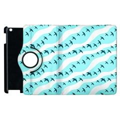 Darkl Ight Fly Blue Bird Apple iPad 2 Flip 360 Case
