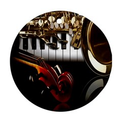 Classical Music Instruments Ornament (Round)