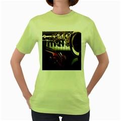 Classical Music Instruments Women s Green T-Shirt