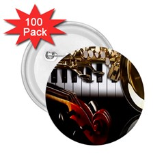 Classical Music Instruments 2.25  Buttons (100 pack)
