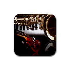 Classical Music Instruments Rubber Coaster (Square)