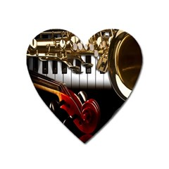 Classical Music Instruments Heart Magnet