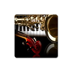 Classical Music Instruments Square Magnet