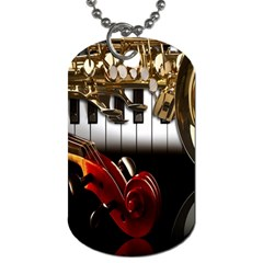 Classical Music Instruments Dog Tag (One Side)
