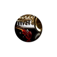 Classical Music Instruments Golf Ball Marker (10 pack)