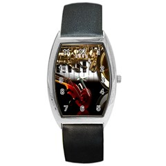 Classical Music Instruments Barrel Style Metal Watch