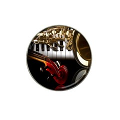 Classical Music Instruments Hat Clip Ball Marker (4 pack)