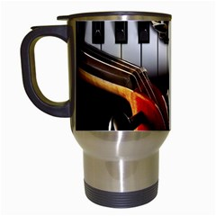Classical Music Instruments Travel Mugs (White)