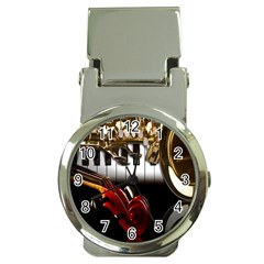 Classical Music Instruments Money Clip Watches