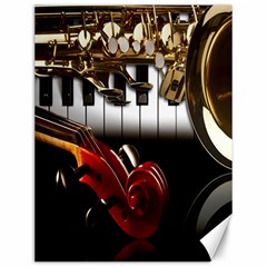Classical Music Instruments Canvas 12  x 16