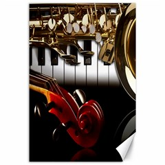 Classical Music Instruments Canvas 24  x 36