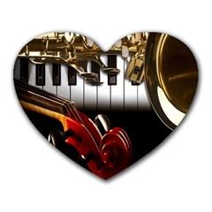 Classical Music Instruments Heart Mousepads