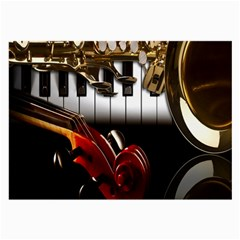 Classical Music Instruments Large Glasses Cloth