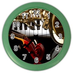 Classical Music Instruments Color Wall Clocks