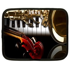 Classical Music Instruments Netbook Case (Large)