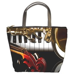 Classical Music Instruments Bucket Bags