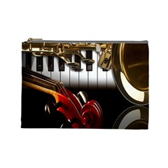 Classical Music Instruments Cosmetic Bag (Large)