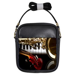 Classical Music Instruments Girls Sling Bags