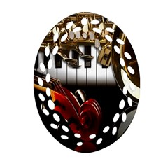 Classical Music Instruments Ornament (Oval Filigree)