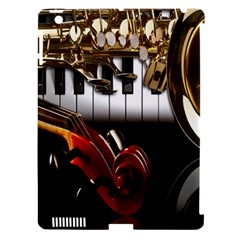 Classical Music Instruments Apple iPad 3/4 Hardshell Case (Compatible with Smart Cover)