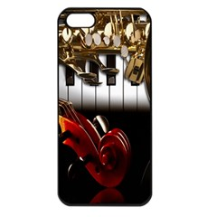 Classical Music Instruments Apple iPhone 5 Seamless Case (Black)