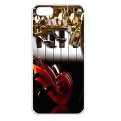 Classical Music Instruments Apple iPhone 5 Seamless Case (White)