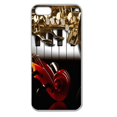 Classical Music Instruments Apple Seamless iPhone 5 Case (Clear)