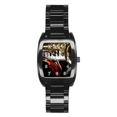 Classical Music Instruments Stainless Steel Barrel Watch