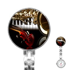 Classical Music Instruments Stainless Steel Nurses Watch