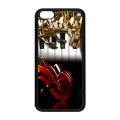 Classical Music Instruments Apple iPhone 5C Seamless Case (Black)