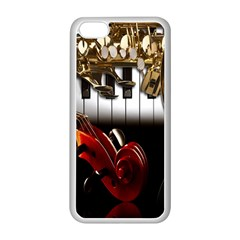 Classical Music Instruments Apple iPhone 5C Seamless Case (White)