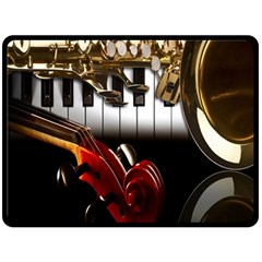 Classical Music Instruments Double Sided Fleece Blanket (Large)