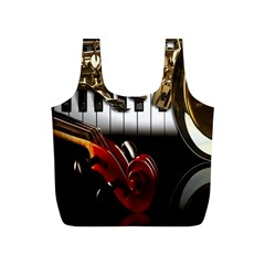 Classical Music Instruments Full Print Recycle Bags (S)