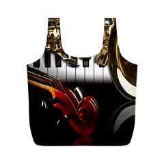 Classical Music Instruments Full Print Recycle Bags (M)