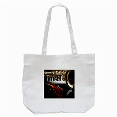 Classical Music Instruments Tote Bag (White)