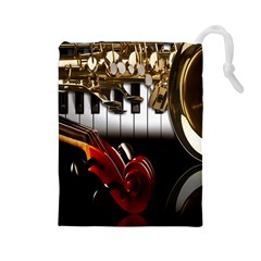 Classical Music Instruments Drawstring Pouches (Large)