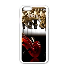Classical Music Instruments Apple iPhone 6/6S White Enamel Case