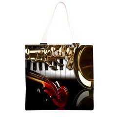 Classical Music Instruments Grocery Light Tote Bag