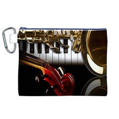 Classical Music Instruments Canvas Cosmetic Bag (XL)